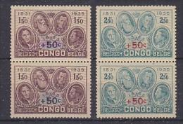 Belgisch Congo 1936 Gedenkteken Koning Albert 2w (paar)  ** Mnh (27537) - Belgisch-Kongo