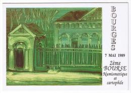 ILLUSTRATEUR  D'AMBROSIO  1989  BOURGES  BOURSE NUMISMATIQUE CARTOPHILE - Bourses & Salons De Collections