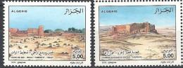 2002  Algérie  N° 1308 Et 1309 Nf** . Ksour Du Sud Algérien . - Algerien (1962-...)
