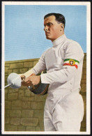 GERMANY - OLYMPIC GAMES BERLIN 1936 - FENCING OLYMPIC WINNER - FRANCO RICCARDI - OLYMPIA 1936 PICTURE CARD - Fencing