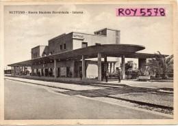 Nettuno Stazione Ferroviaria (nuova) Veduta Interno Animata Anni/30 - Stazioni Senza Treni