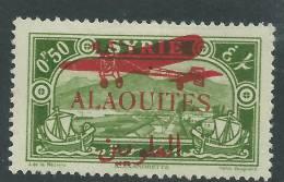 Alaouites PA  N° 14 X  Timbres Surchargés : 0 Pi 50 Vert-jaune Trace  Charnière Sinon TB