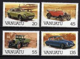VANUATU N° 755 / 58 XX Automobiles La Série Des 4 Valeurs Sans Charnière TB - Vanuatu (1980-...)