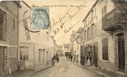 89 PONT Sur YONNE Rue Du Pont  Animée -en L´état - Pont Sur Yonne