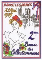 Illustrateur  HERARD MARLIN  BAUME LES DAMES  2° BOURSE 1989   TBE - Bourses & Salons De Collections