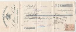21/10/1925 L MARC SALIER Morues D´Islande & De Terre Neuve Grand Port BEGLES Gironde Pour Duravel Lot - Lettres De Change