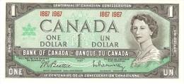 CANADA 1 DOLLAR 1967 PICK 84a UNC - Canada