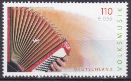 Timbre-poste Gommé Neuf** - Musique Populaire L'accordéeon - N° 2012 (Yvert) - Allemagne Fédérale 2001 - [7] Federal Republic
