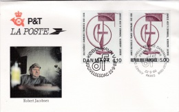 Joint Issue FDC France And Denmark 1988 Robert Jacobsen - Please Note Bowed In Upper Right Corner   (G83-44) - Joint Issues