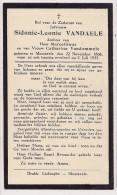 DP Sidonie Leonie VANDAELE - Vandommele - Moorsele - 1868 / 1935 - Décès