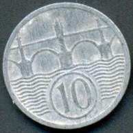 BOHMEN UND MAHREN , 1O HALERU 1940 , KM 1 UNCLEANED ZINC COIN - Czechoslovakia
