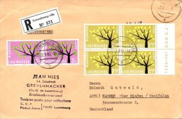 LUXEMBOURG. N°612-3 De 1962 Sur Enveloppe Ayant Circulé. Europa´62. - Europa-CEPT