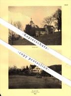 Photographien / Ansichten , 1937 , Thal SG , Schloß Greifenstein , Prospekt , Fotos , Architektur !!! - SG St. Gallen