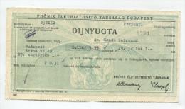 "Hongrie Hungary Ungarn """" DIJNYUGTA """""" PHONIX ELETBIZTOSITO TARSASAG Ticket - Tickets - Vouchers"