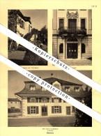 Photographien / Ansichten , 1937, Thal SG , Klingelburg , Bürkli , Rheineck , Löwenhof , Prospekt , Fotos , Architektur - SG St. Gallen