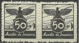 ESPAÑA CIVIL WAR AUXILIO INVIERNO 1939 - Spanish Civil War Labels