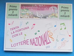1994 CARTOLINA LOTTERIA GERACE MUSICARCHITETTURA - Biglietti Della Lotteria