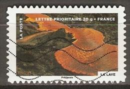FRANCE    -    2012 .  Y&T N° 751 Oblitéré.    LAVE DE VOLCAN - Francia