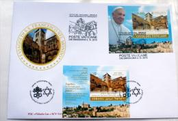 VATICANO - ISRAELE FDC JOINT , VIAGGIO PAPA FRANCESCO IN TERRA SANTA - Unused Stamps