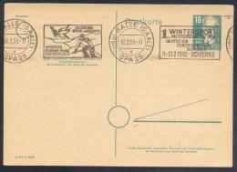 Germany Deutschland Deutsches Post 1950 Card: Alpine Skiing Ski Alpine Sci Alpino; Fauna Taube Dove Wintersport Meisters - Ski