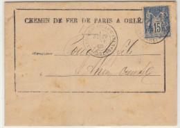 LAC Avis Chemin De Fer Paris Orléans 15C Sage O. T18  Gare Du Busseau D'Ahun Creuse 1895 (2 Scans) - 1877-1920: Période Semi Moderne