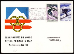 France Chamonix Mont-Blanc 1962 World Championships In Alpine Skiing Machine Stamp - Winter 1972: Sapporo