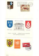 ARM-L6 - FRANCE-ALLEMAGNE Encart Souvenir De L4exposition Philatélique Au 10e Régiment Du Génie à Breisach 1969 - Militaria