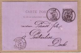 NORD - LILLE - ABSINTHE - COMMANDE DE EUG. BULLENS , GRAND HÔTEL DE LYON , A PERNOD FILS , PONTARLIER - 1887 - Lille