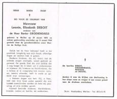 Wellen :  Mevrouw Leonie, Elisabeth Deboit ; 1964 ( 2 Scans) - Images Religieuses