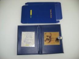 PADRE PIO SANTO 2002 LAMINA IN ORO ESAURITO ALLE POSTE IN LAMINA D ORO BOX NEW - 6. 1946-.. Repubblica