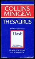 """"""" Collins Minigem Thesaurus """" - 75000 Synonyms - A-Z Arangement  (2 Scans). - English Language/ Grammar"""
