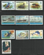 TEN AT A TIME - DOMINICA  - LOT OF 10 DIFFERENT 1 - MNH MINT NEUF NUEVO - Dominique (1978-...)