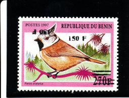 Bénin 2000 ( Passereau Africain - 150F/270F - Double Surcharge Dont 1 Renversée) Signée-Luxe** TRES RARE - Benin – Dahomey (1960-...)