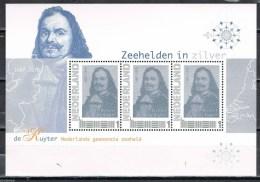 Postset Zeehelden In Zilver Michiel De Ruyter Met Oa Vel Persoonlijke Postzegels - SCHAARS, LEES!! - Netherlands