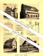 Photographien / Ansichten , 1937 , Schmerikon , Uznach , Rapperswil , Weesen , Kaltbrunn  Prospekt , Fotos , Architektur - SG St. Gallen