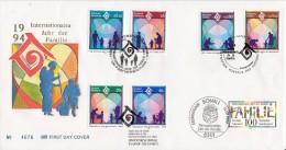 JOINTISSUE 1994 Germany United Nations International Family Year Mixed FDC #19797 - Emissioni Congiunte