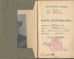Ukraine Lviv 1924  Poland Polytechnic Institute, Department Of Chemistry Receipts Of Payment Student's Record-book Lvov - Historical Documents