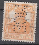 Deutsches Reich -  Mi. 99 (o) Perfin - Germania