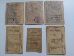 Lot De 5 Cartes De Rationnement Alimentation, Textile Et Tabac - A Amiens Pendant Les Années 40. - Documents Historiques