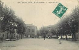 SAINTE FOY L'ARGENTIERE - Place Publique. - France