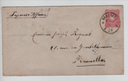 Entier Lettre C.Malmedy En 1888 V. Bruxelles C.d'arrivée 27/4/1888 PR2726 - Briefe U. Dokumente