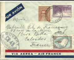 Cover Ouvert Par L'Autorité Militaire Argentina-Calvados-France 1940 - Argentina