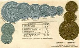 MONNAIE(VENEZUELA) CARTE GAUFREE - Monnaies (représentations)