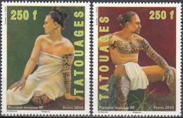 Polynésie Française 2010 Yvert 902 - 903 Neuf ** Cote (2015) 10.00 Euro Tatouages - Polynésie Française