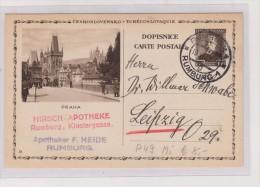 CZECHOSLOVAKIA ,postal Stationery PRAHA - Ganzsachen