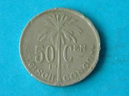 1922 VL - 50 CENT / KM 23 ( For Grade, Please See Photo ) !! - Congo (Belgian) & Ruanda-Urundi