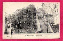 75 PARIS, La Rue Müller à Montmartre, Précurseur, Animée, (G.C.A., Paris) - Arrondissement: 18