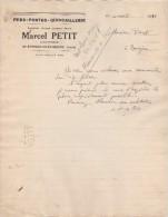 38 ST ETIENNE DE SAINT GEOIRS COURRIER 1941 QuinCAILLERIE Marcel PETIT - Y11 - 1900 – 1949