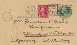 USA - POSTCARD 1933