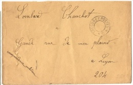 ARM-L35 - FRANCE Lettre En Franchise Militaire Cachet Trésor Et Postes - Marcophilie (Lettres)